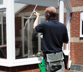 cleaning using traditional methods window cleaner bournemouth