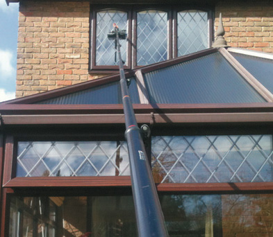 hard to reach windows by window cleaner bournemouth
